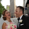 Bride Laughing with Groom, Fifth Avenue, Flat Iron Building in Background