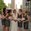 Bridesmaids with Bride, Fifth Avenue, Flat Iron Building