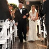 Father walks Bride down the Aisle, Midtown Loft and Terrace Rooftop Wedding