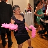 Lady dancing with Pink Feathers from Photobooth