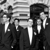 Eric and Groomsmen, portraits outside W Hotel