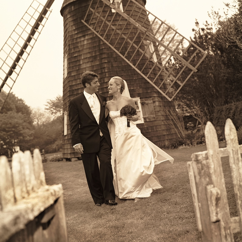 Wedding Photo at Windmill in East Hampton NY